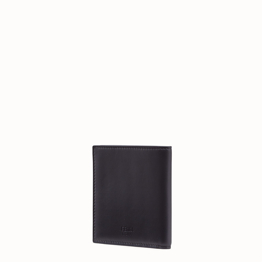 FENDI WALLET - Black calfskin bi-fold wallet - view 2 detail