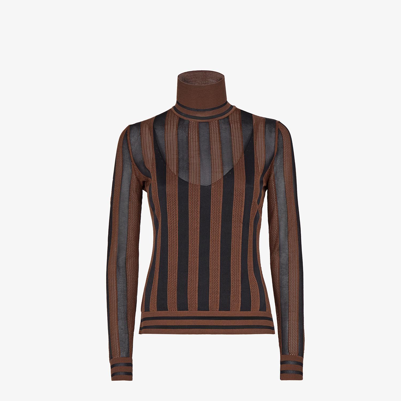 FENDI SWEATER - Multicolor silk sweater - view 1 detail