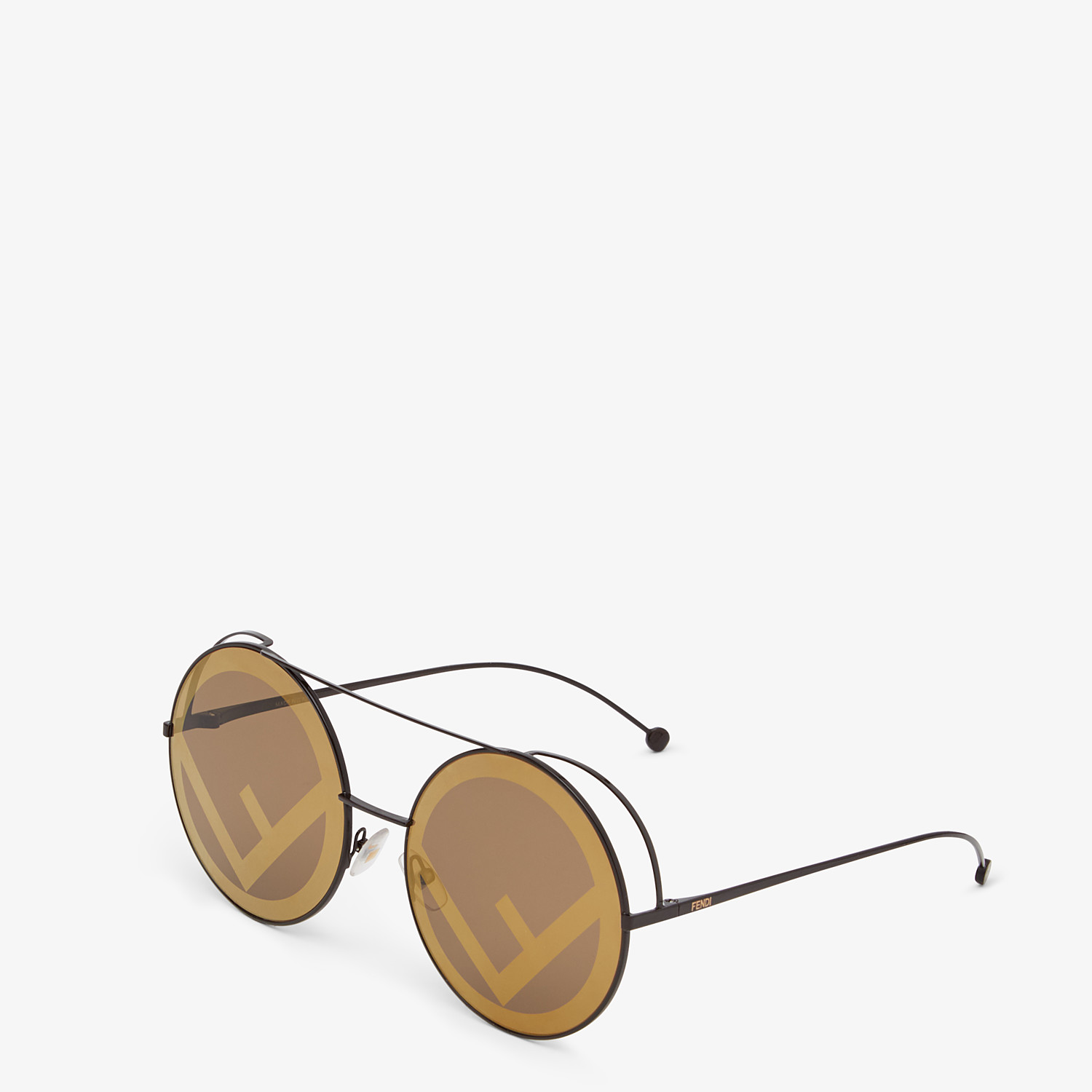 FENDI RUN AWAY - Brown sunglasses - view 2 detail