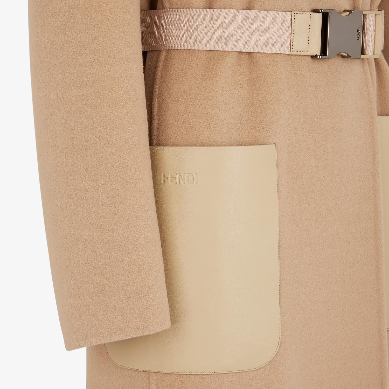 FENDI COAT - Beige cashmere coat - view 3 detail