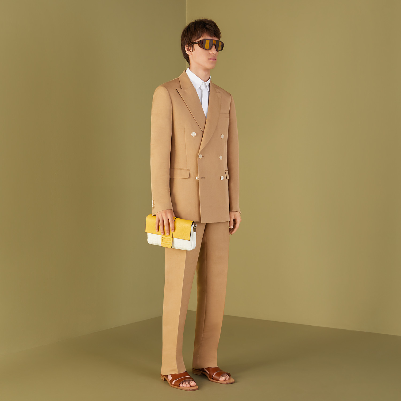 FENDI JACKET - Blazer in brown silk - view 6 detail