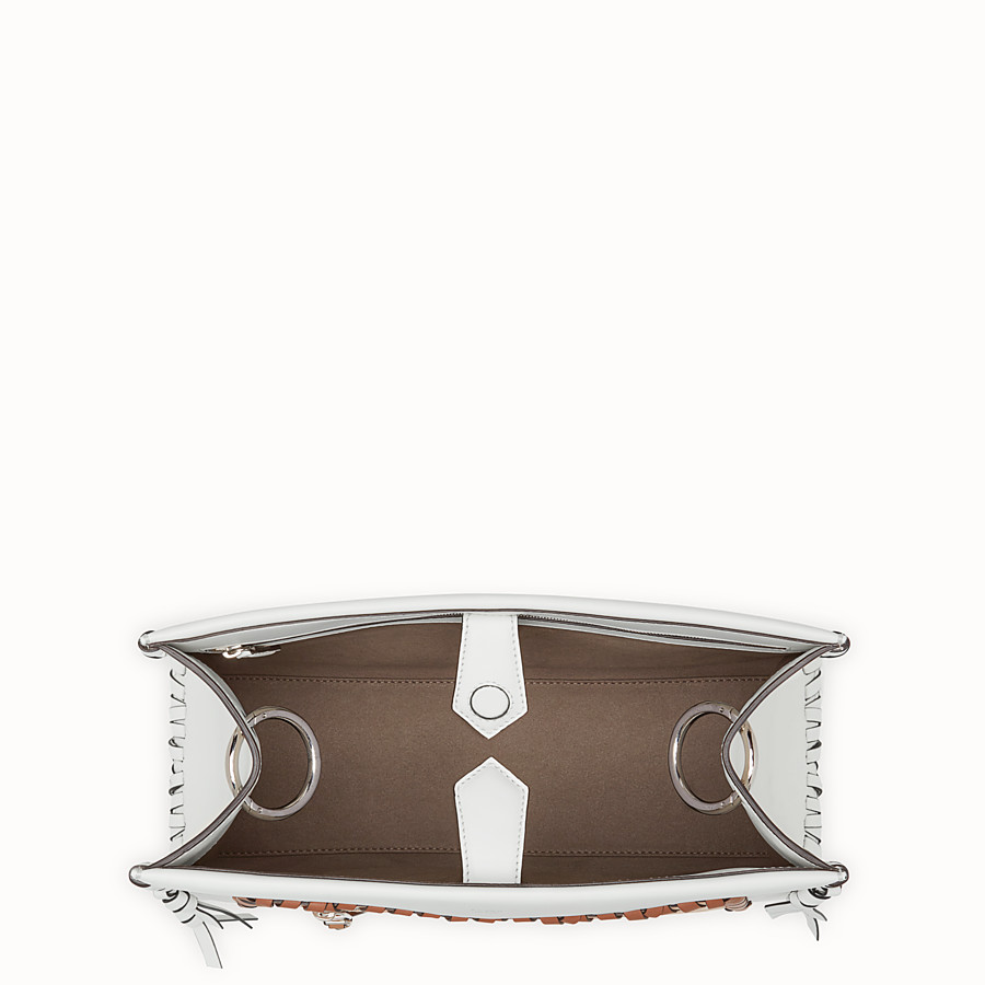 FENDI RUNAWAY REGULAR - White leather bag - view 4 detail