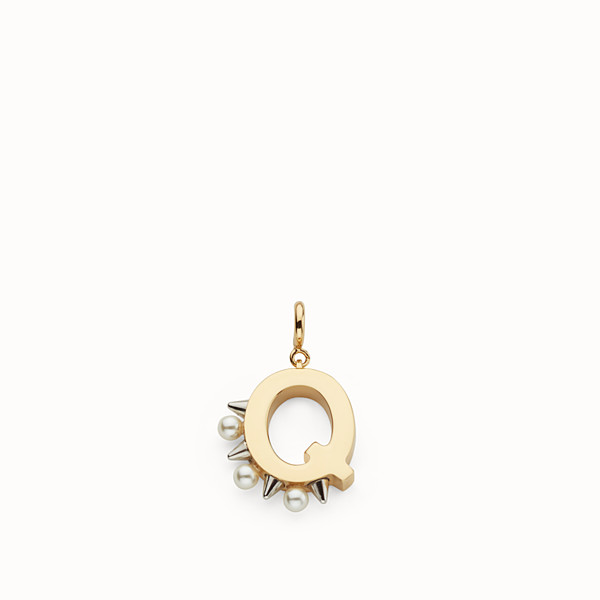 FENDI ABCHIC Q - Charm with pearls and studs - view 1 small thumbnail
