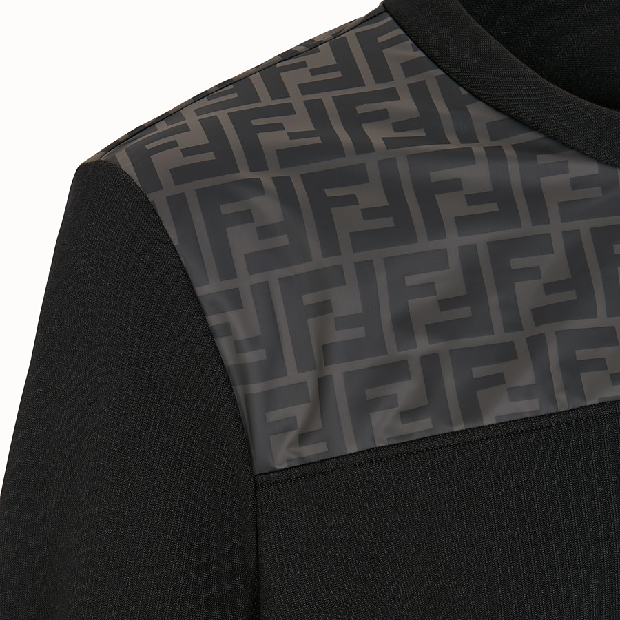 FENDI SWEATSHIRT - Black cotton jersey sweatshirt - view 3 detail