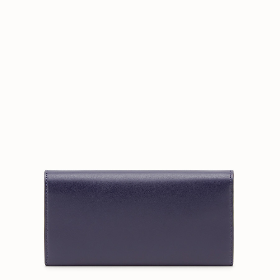 FENDI CONTINENTAL WITH CHAIN - Blue leather wallet - view 3 detail