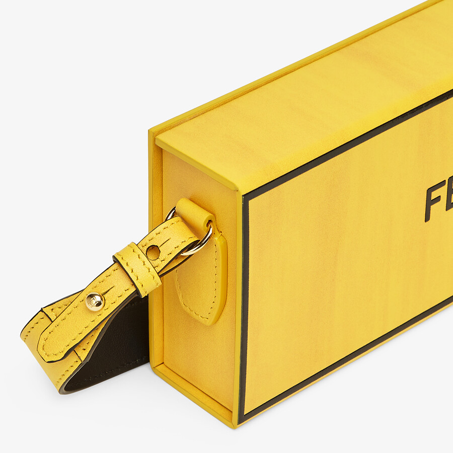 FENDI HORIZONTAL BOX - Yellow leather bag - view 5 detail