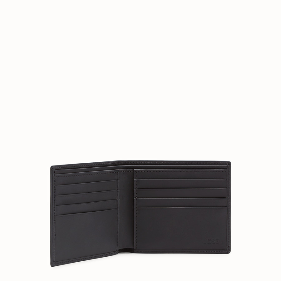 FENDI WALLET - Red fabric bi-fold wallet - view 3 detail