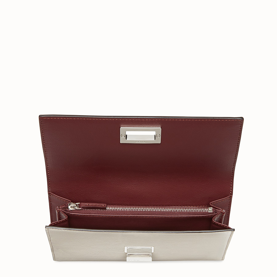 FENDI WALLET - Grey and burgundy continental wallet - view 4 detail