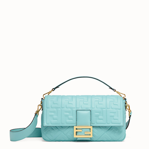 FENDI BAGUETTE LARGE - Pale blue leather bag - view 1 small thumbnail