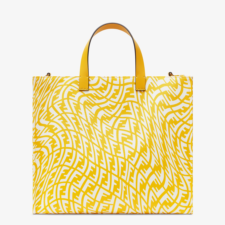 FENDI SHOPPER - Yellow glazed canvas bag - view 4 detail