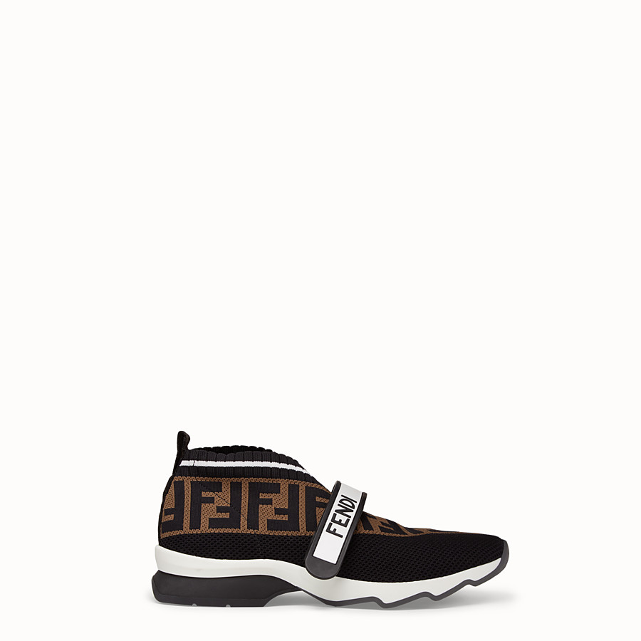 FENDI SNEAKERS - Black fabric sneakers - view 1 detail