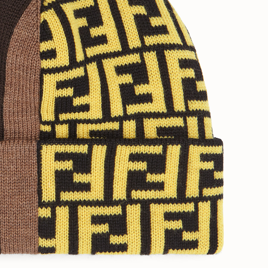 FENDI HAT - Multicoloured wool hat - view 2 detail