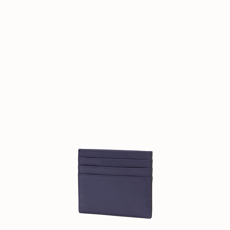 FENDI CARD HOLDER - Blue leather card holder - view 2 detail
