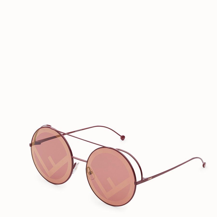 FENDI RUN AWAY - Lunettes de soleil rouges - view 2 detail