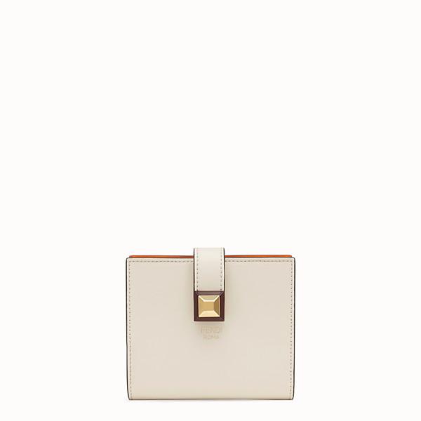 FENDI BIFOLD - White compact leather wallet - view 1 small thumbnail