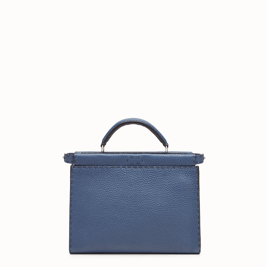 FENDI MINI PEEKABOO FIT - Blue leather bag - view 1 detail