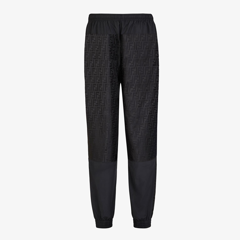 FENDI TROUSERS - Black tech fabric trousers - view 2 detail