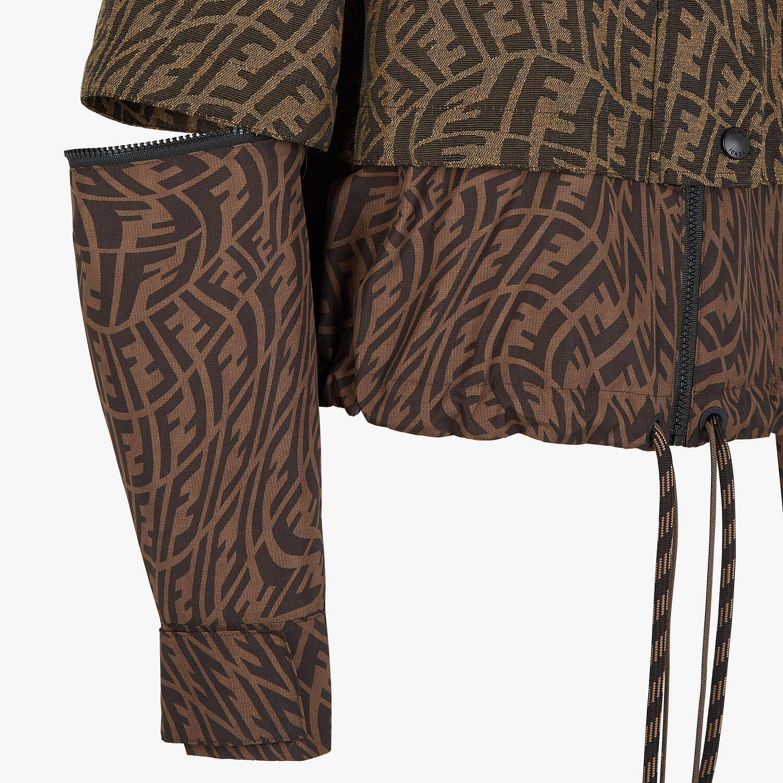 FENDI JACKET - Brown canvas jacket - view 3 detail