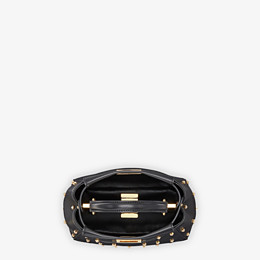 FENDI PEEKABOO ICONIC XS - Black leather mini-bag - view 4 thumbnail