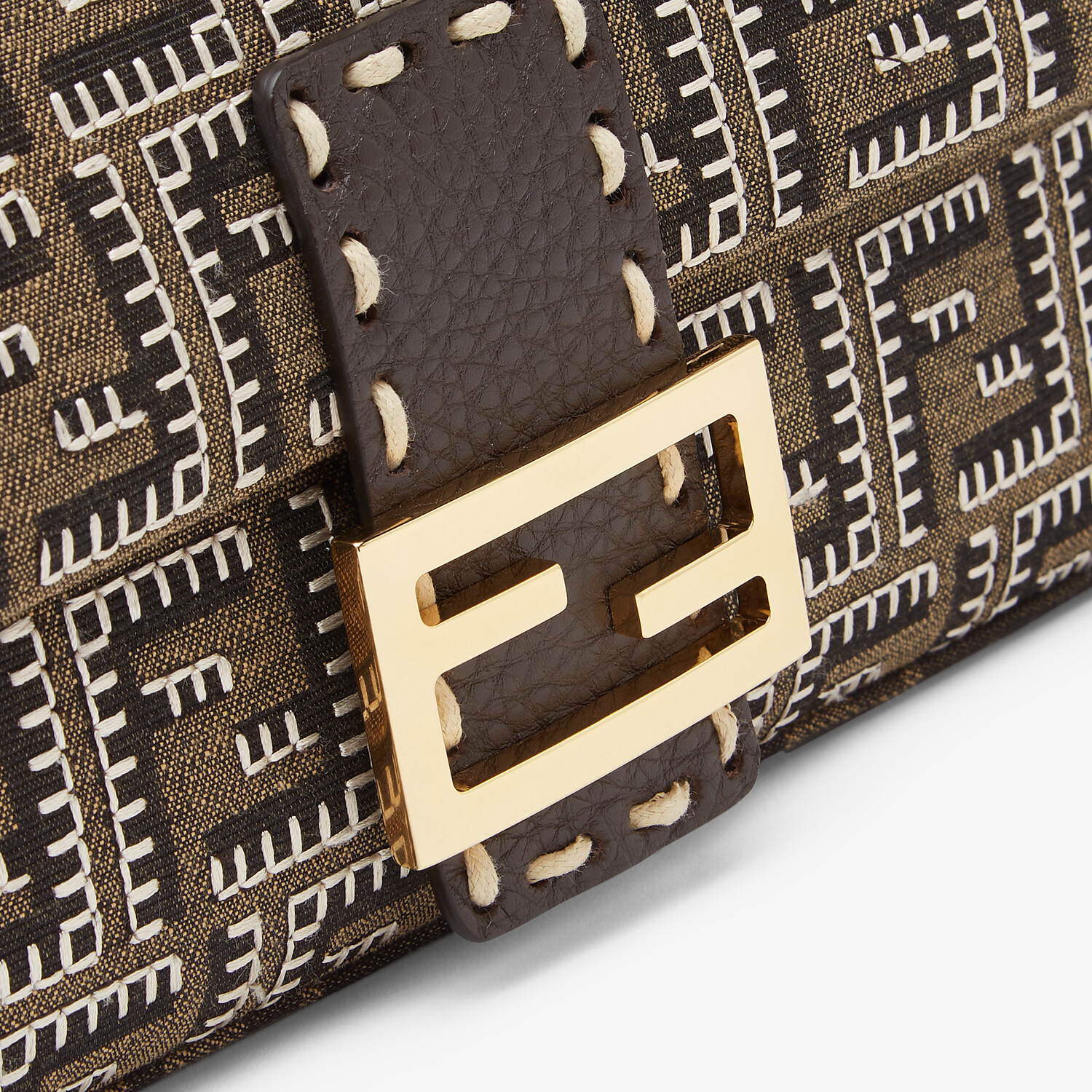 FENDI BAGUETTE - Embroidered FF fabric bag - view 5 detail
