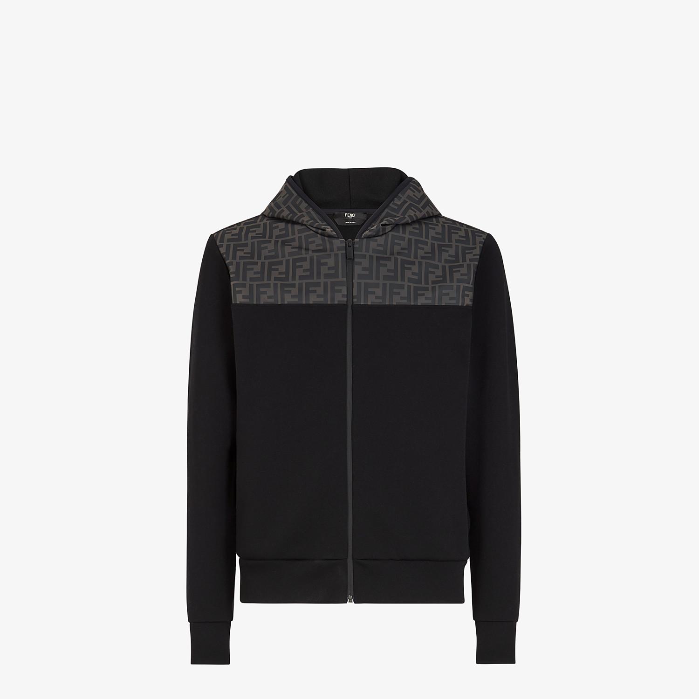 FENDI SWEATSHIRT - Black cotton jersey sweatshirt - view 1 detail