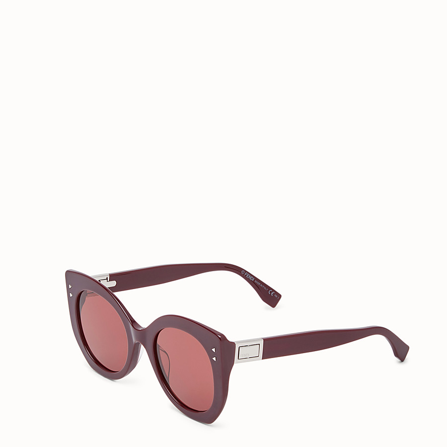 FENDI PEEKABOO - Burgundy sunglasses - view 2 detail
