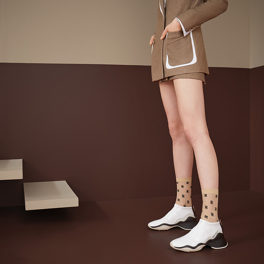 FENDI SOCKS - Nude nylon socks - view 2 detail