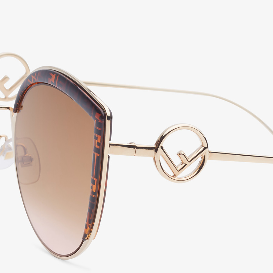FENDI F IS FENDI - Rose-gold-colored sunglasses - view 3 detail