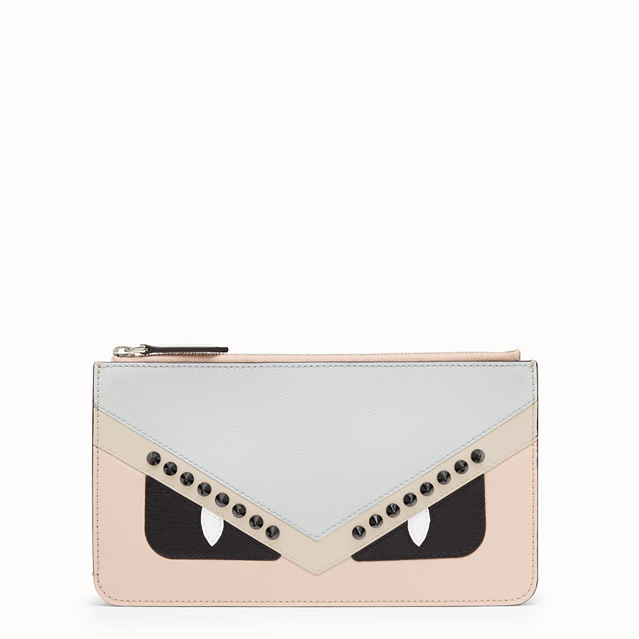 FENDI FLAT CLUTCH - Multicolour leather pochette - view 1 detail