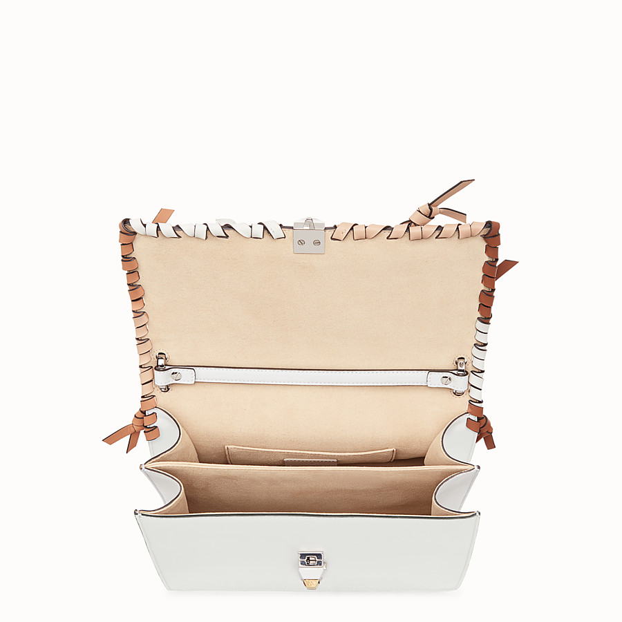 FENDI KAN I - White leather bag - view 4 detail