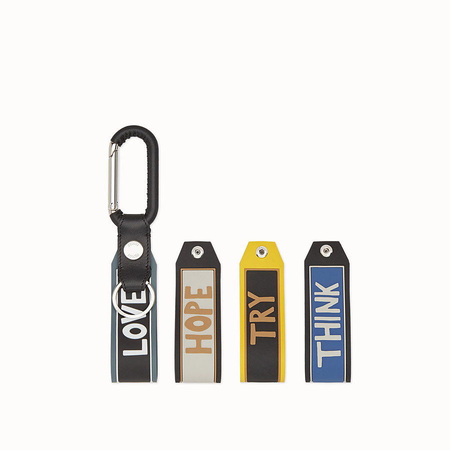 FENDI KEYRING - Spring clip with set of 4 tags - view 1 detail