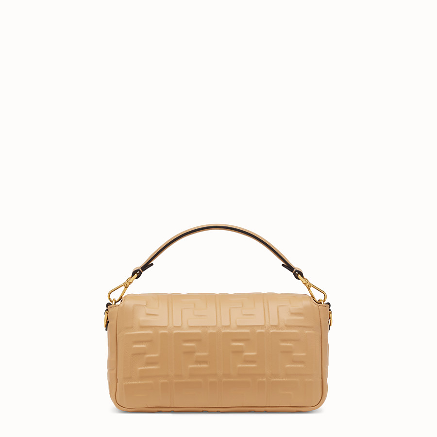 FENDI BAGUETTE - Beige leather bag - view 3 detail
