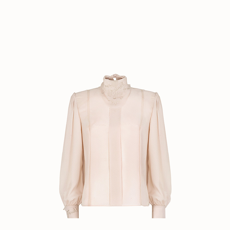 FENDI SHIRT - Pink cotton shirt - view 1 detail