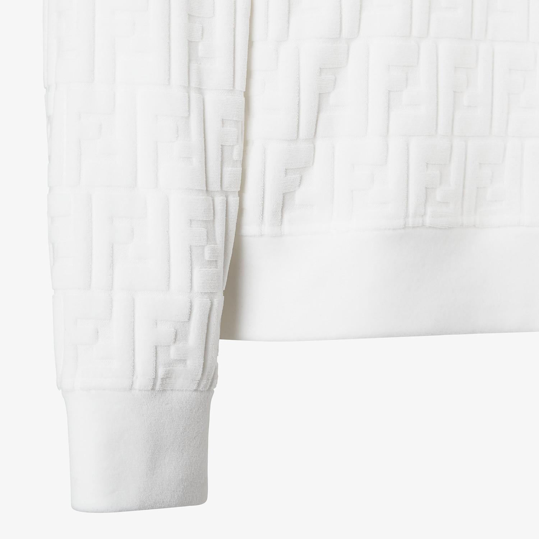 FENDI SWEATSHIRT - White chenille sweatshirt - view 3 detail