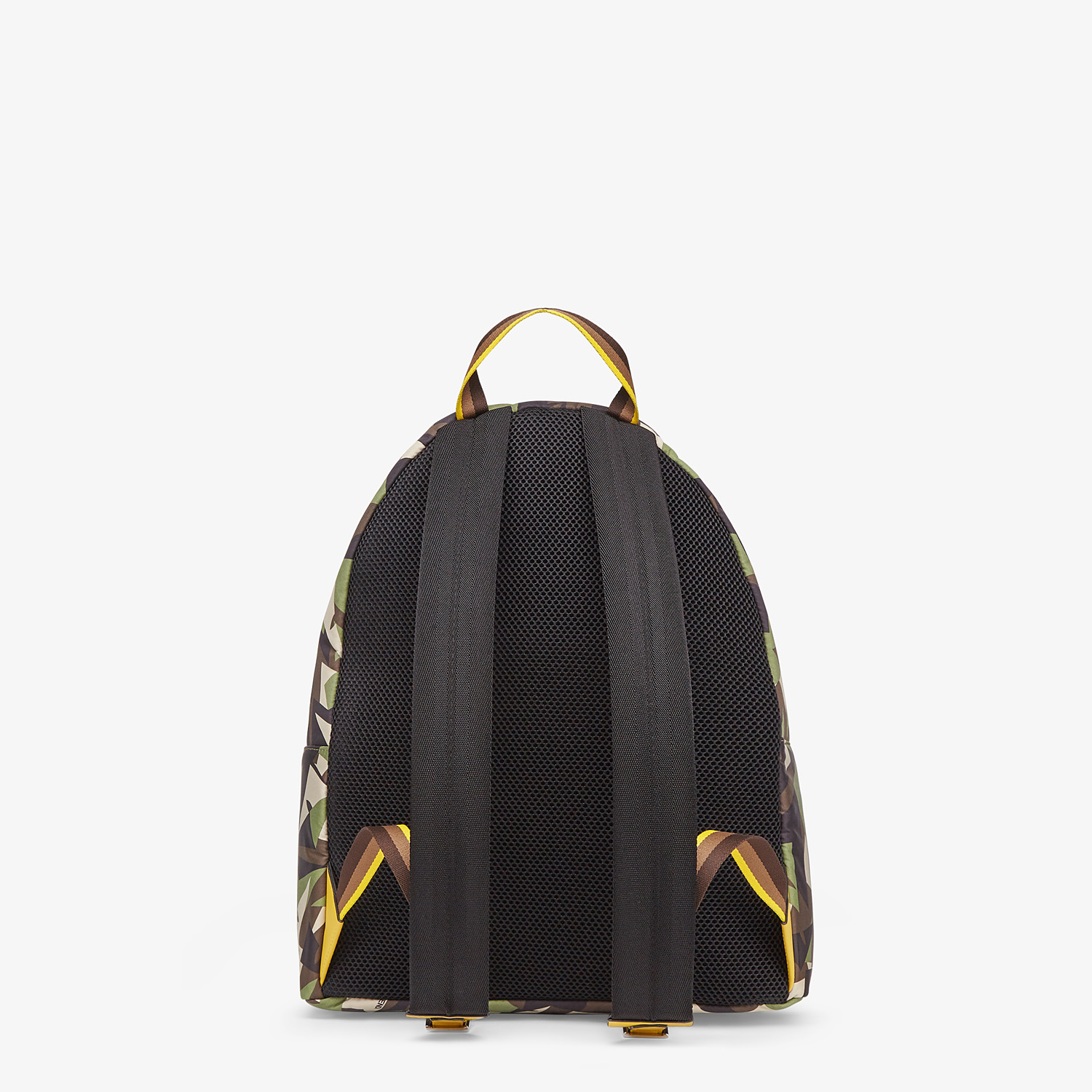FENDI BACKPACK - Green nylon backpack - view 3 detail