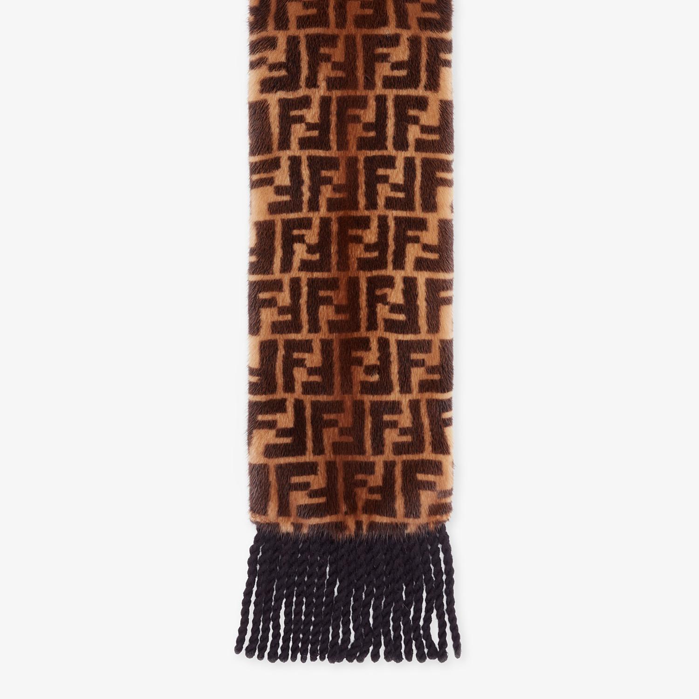 FENDI SCIARPA - Sciarpa in visone marrone - vista 1 dettaglio