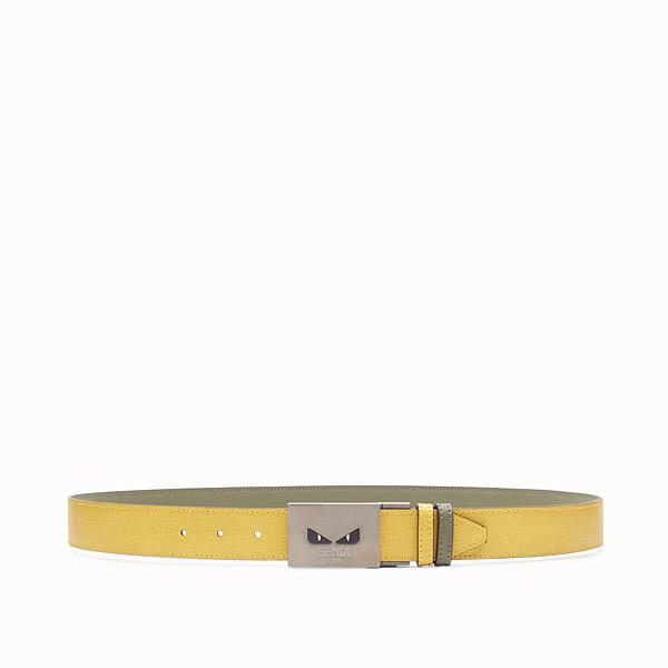 FENDI BELT - Yellow and green reversible belt - view 1 small thumbnail