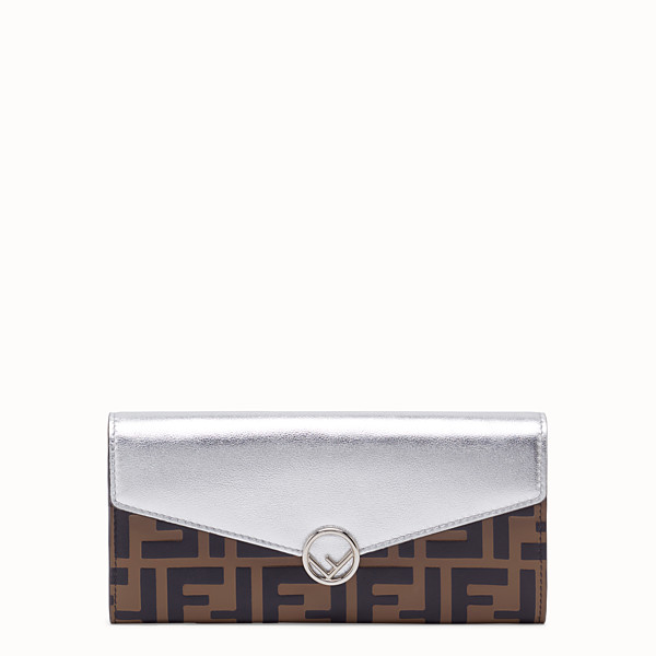 FENDI CONTINENTAL - Silver leather wallet - view 1 small thumbnail