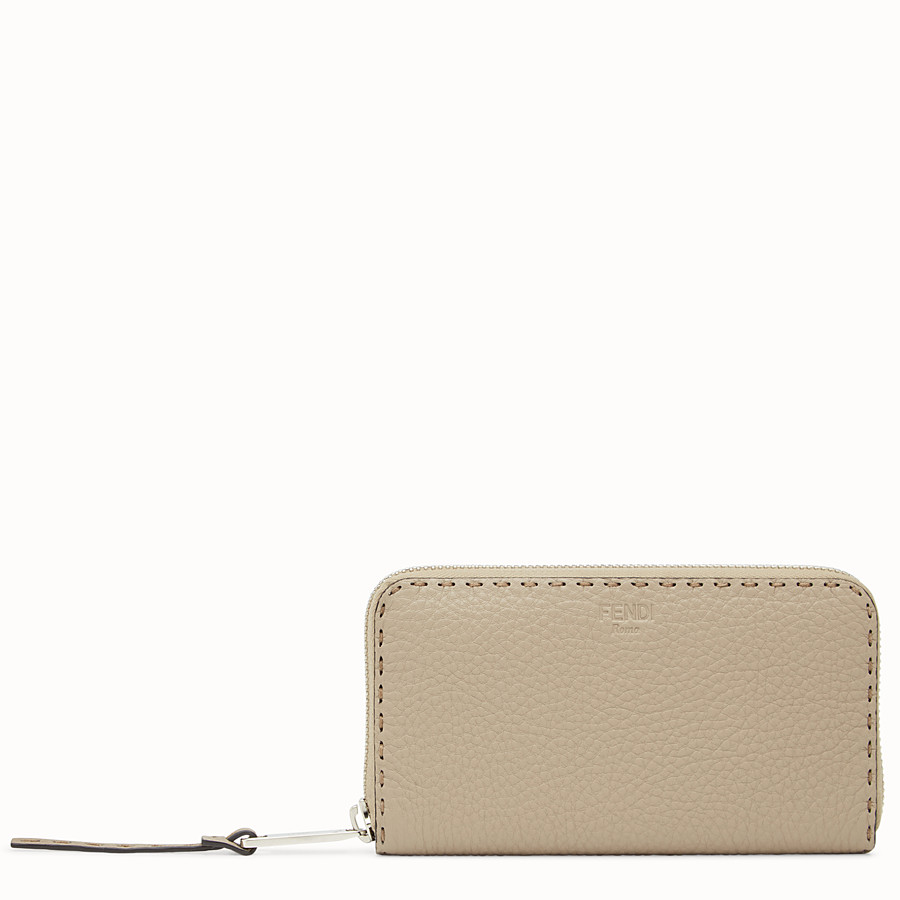 FENDI ZIP AROUND - Zip around Selleria beige - vista 1 dettaglio