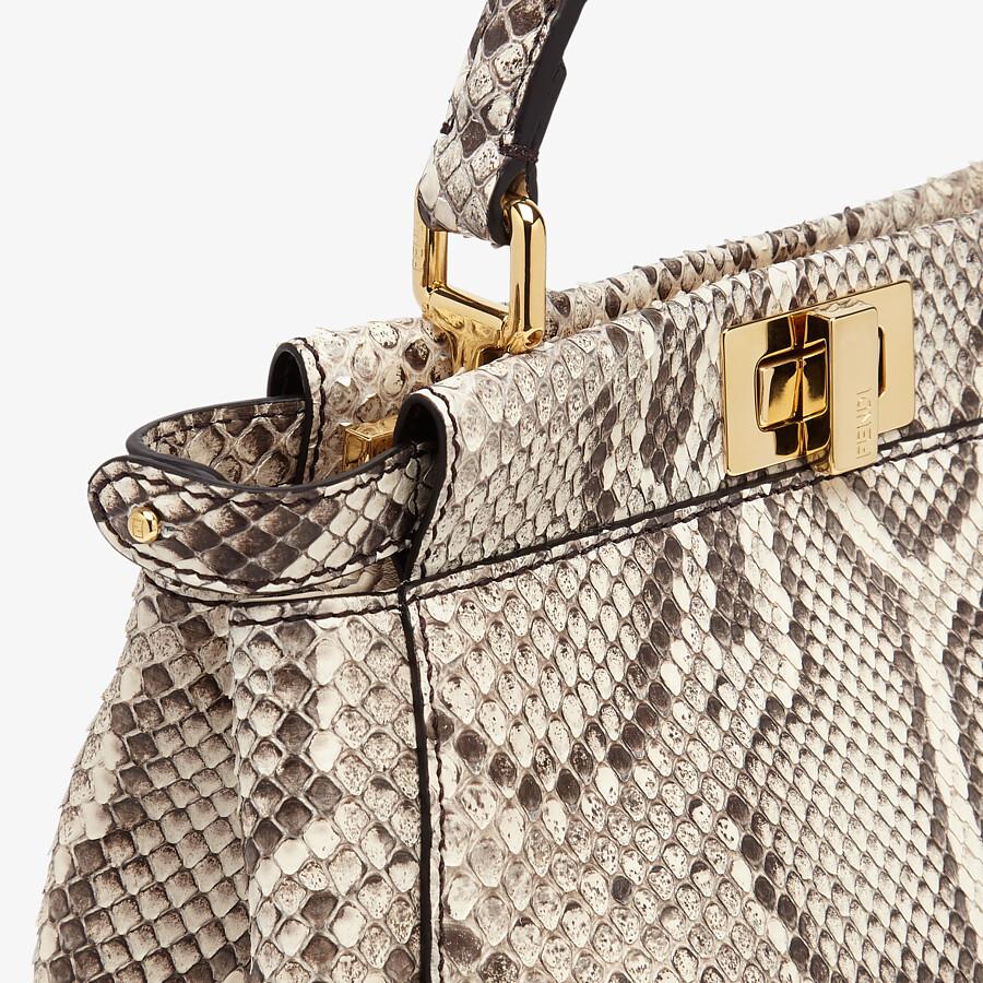 FENDI PEEKABOO ICONIC MINI - White python leather bag - view 5 detail