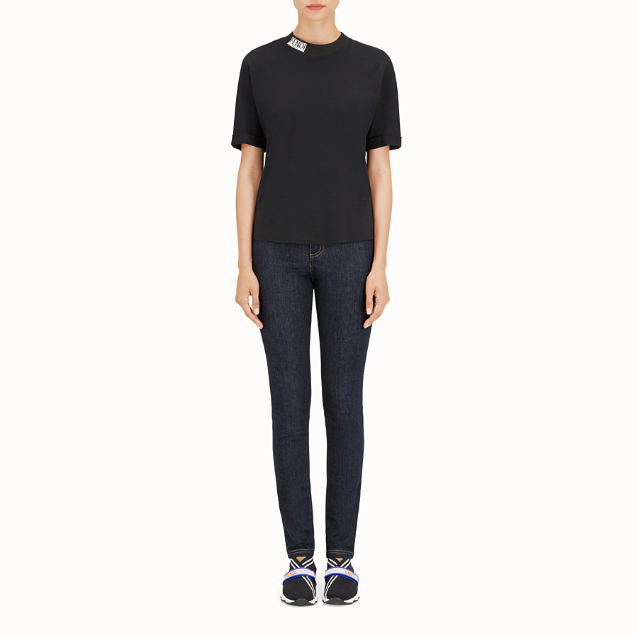FENDI T恤 - 黑色棉質T恤 - view 2 detail
