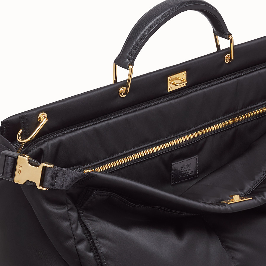 FENDI PEEKABOO MEDIUM FENDI AND PORTER - Black nylon bag - view 5 detail