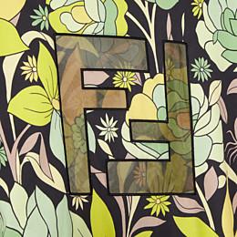 FENDI T-SHIRT - Mehrfarbiges T-Shirt aus Baumwolle - view 3 thumbnail