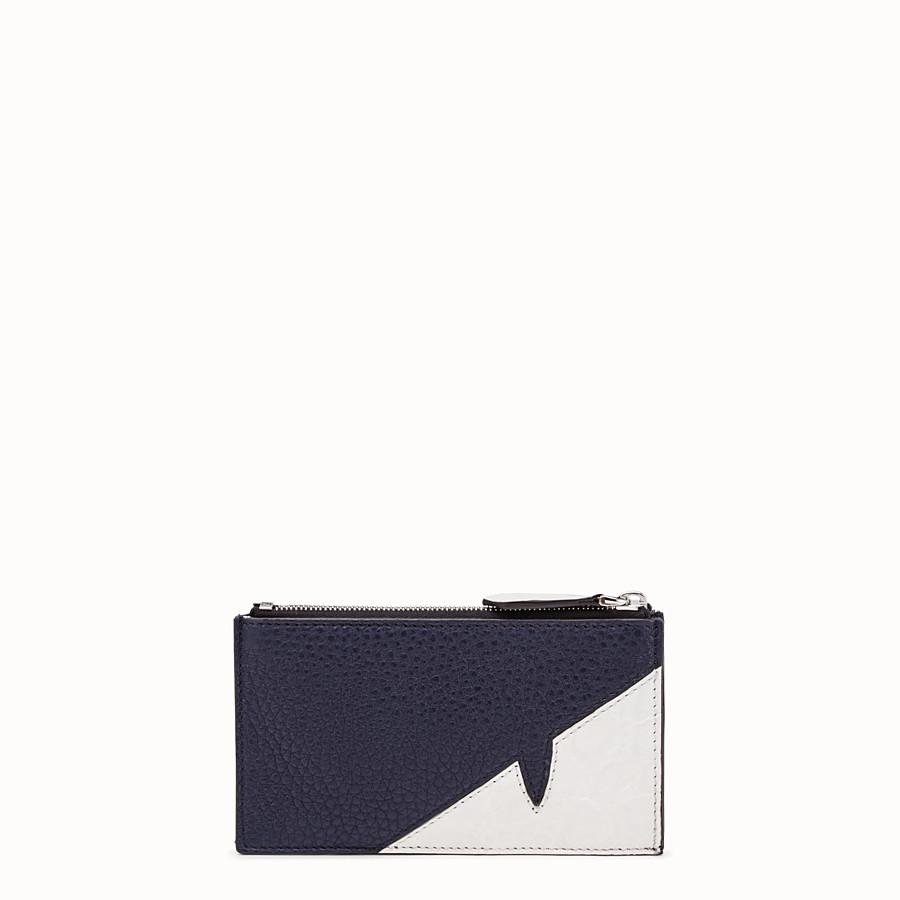 FENDI 零錢包 - 藍色皮革零錢包 - view 1 detail