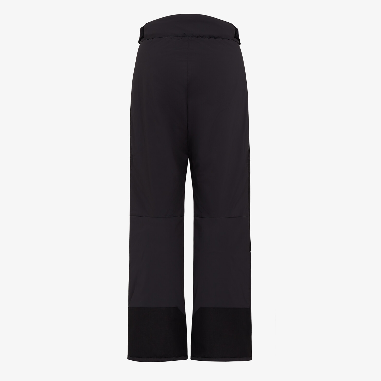 FENDI SKI TROUSERS - Black tech fabric trousers - view 2 detail