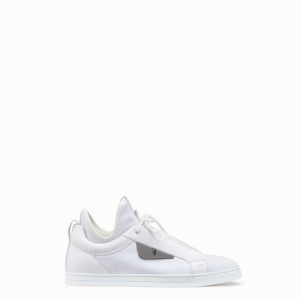 FENDI SNEAKERS - White leather high-tops - view 1 small thumbnail