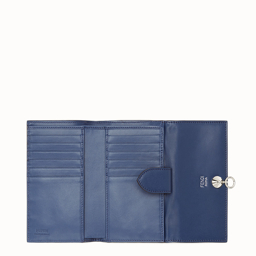 FENDI CONTINENTAL MEDIUM - Slim continental wallet in midnight-blue leather - view 5 detail