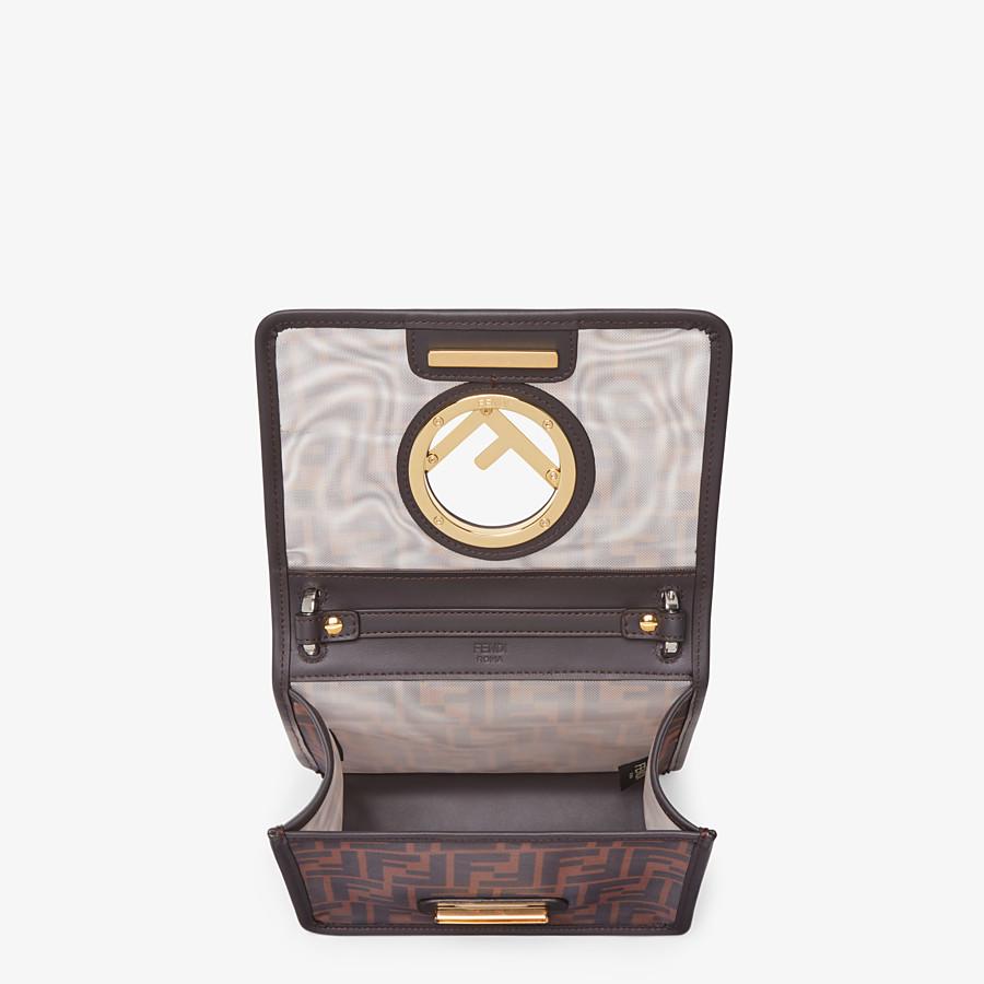 FENDI KAN I F SMALL - Brown tech mesh mini bag - view 5 detail