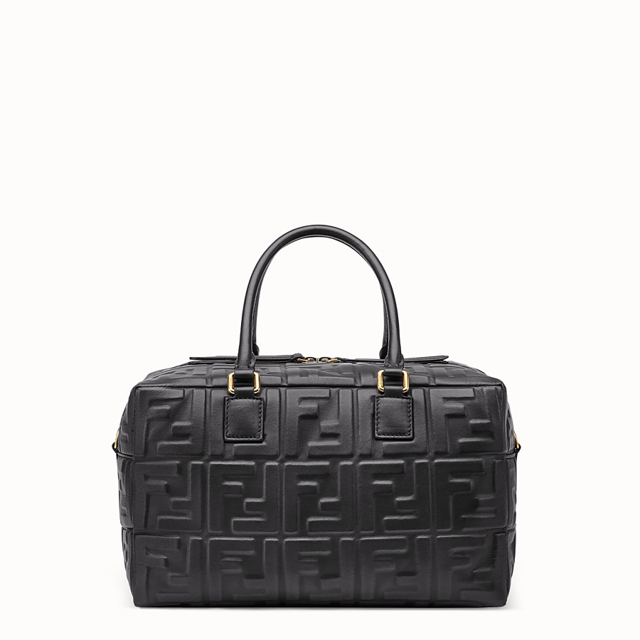 FENDI BOSTON SMALL - Black leather Boston bag - view 3 detail