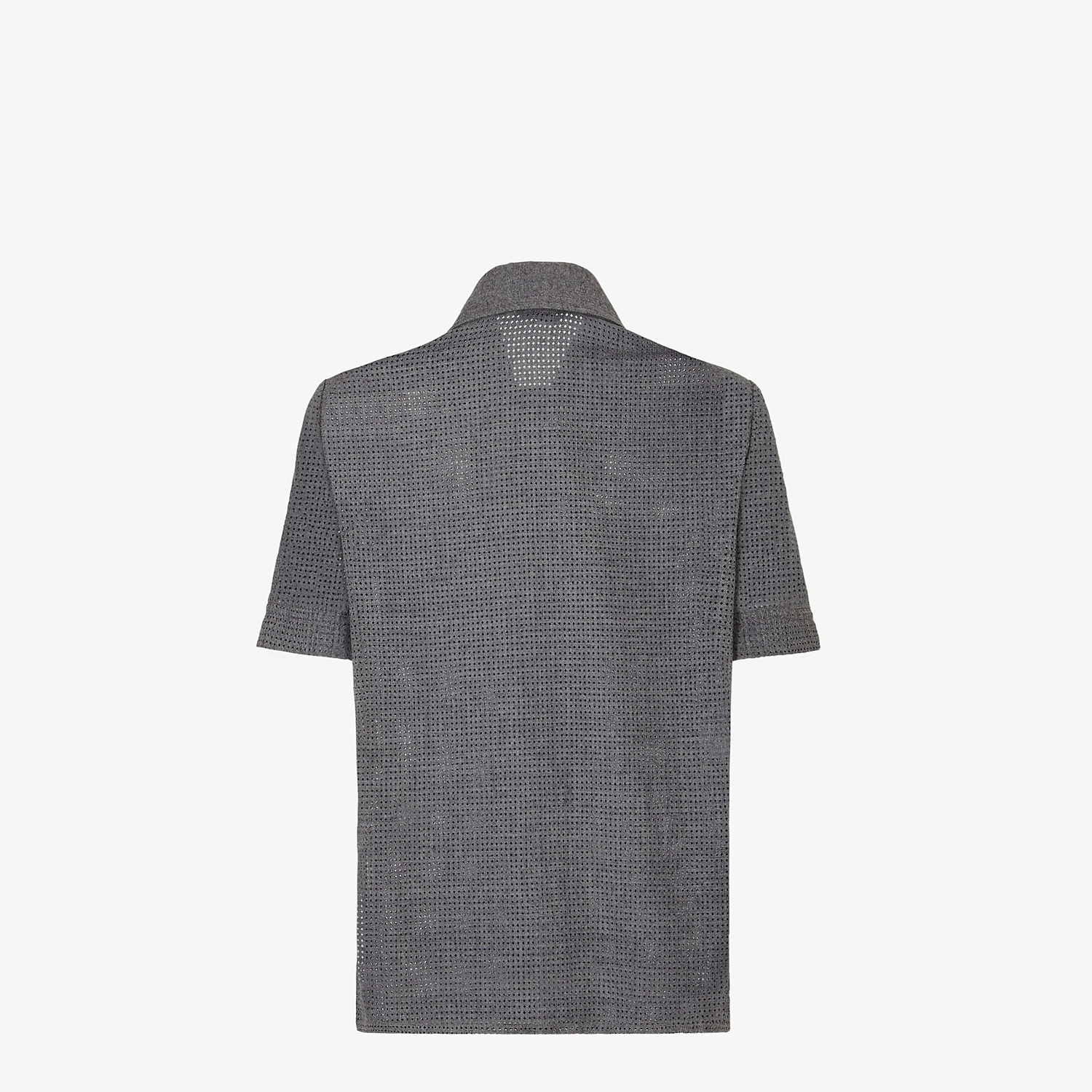 FENDI SHIRT - Gray flannel shirt - view 2 detail